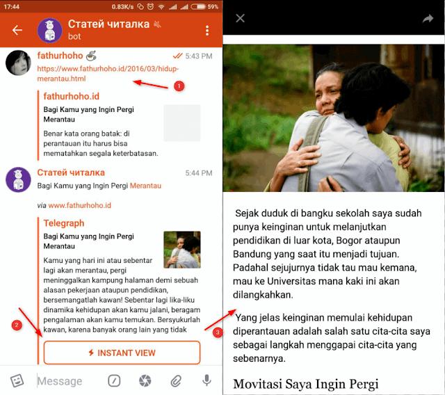 Instant View Telegra.ph Menonaktifkan Iklan