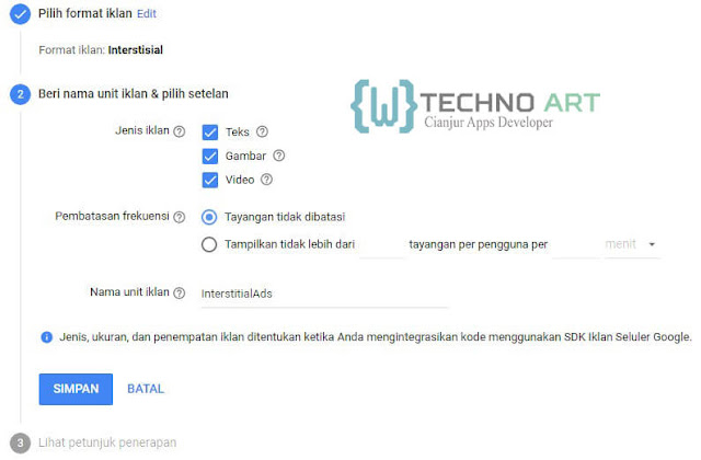WildanTechnoArt-Setelan Unit Iklan Interstitial Ads