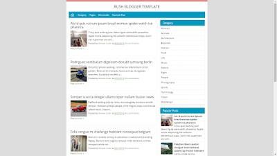 Rush Blogger Template - Template Blog Responsive Ringan Kelas Premium Gratis Untuk Blogger