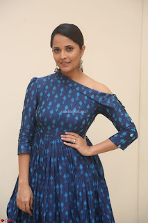 Anchor Anasuya in a Blue Gown at Jai Lava Kusa Trailer Launch ~  Exclusive Celebrities Galleries 042.JPG