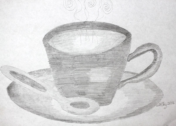 thread shading of a teacup