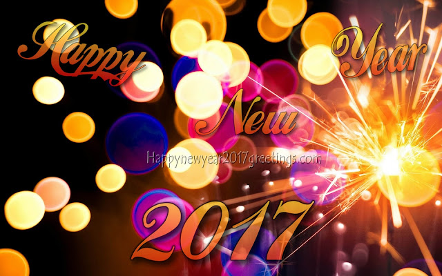 Happy New Year 2017 Fireworks photo Greetings