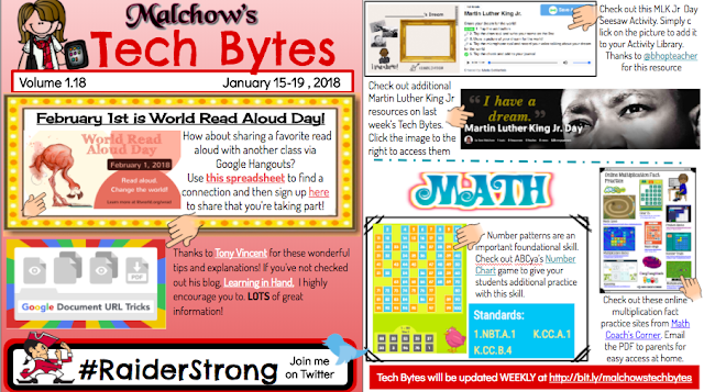 Malchow's Tech Bytes~ Jan 15-19