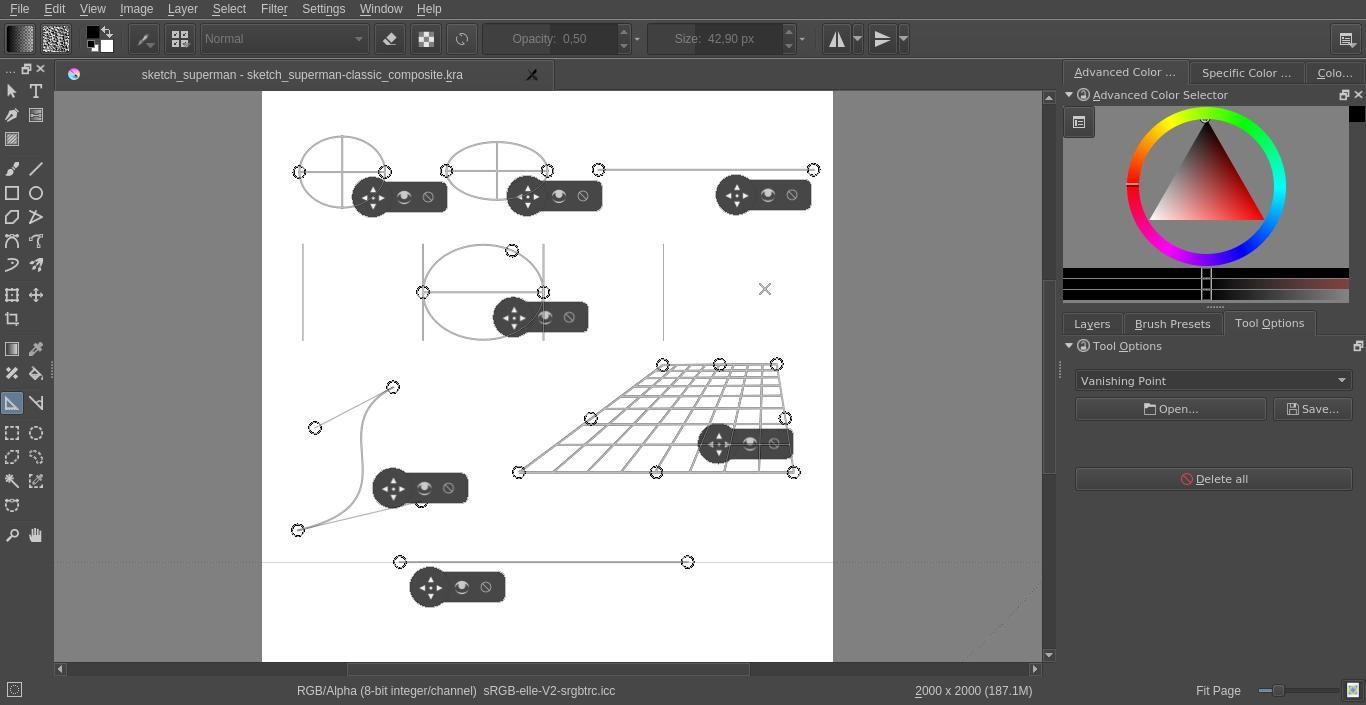 Digital Illustration Using Krita | semprong sketchbook