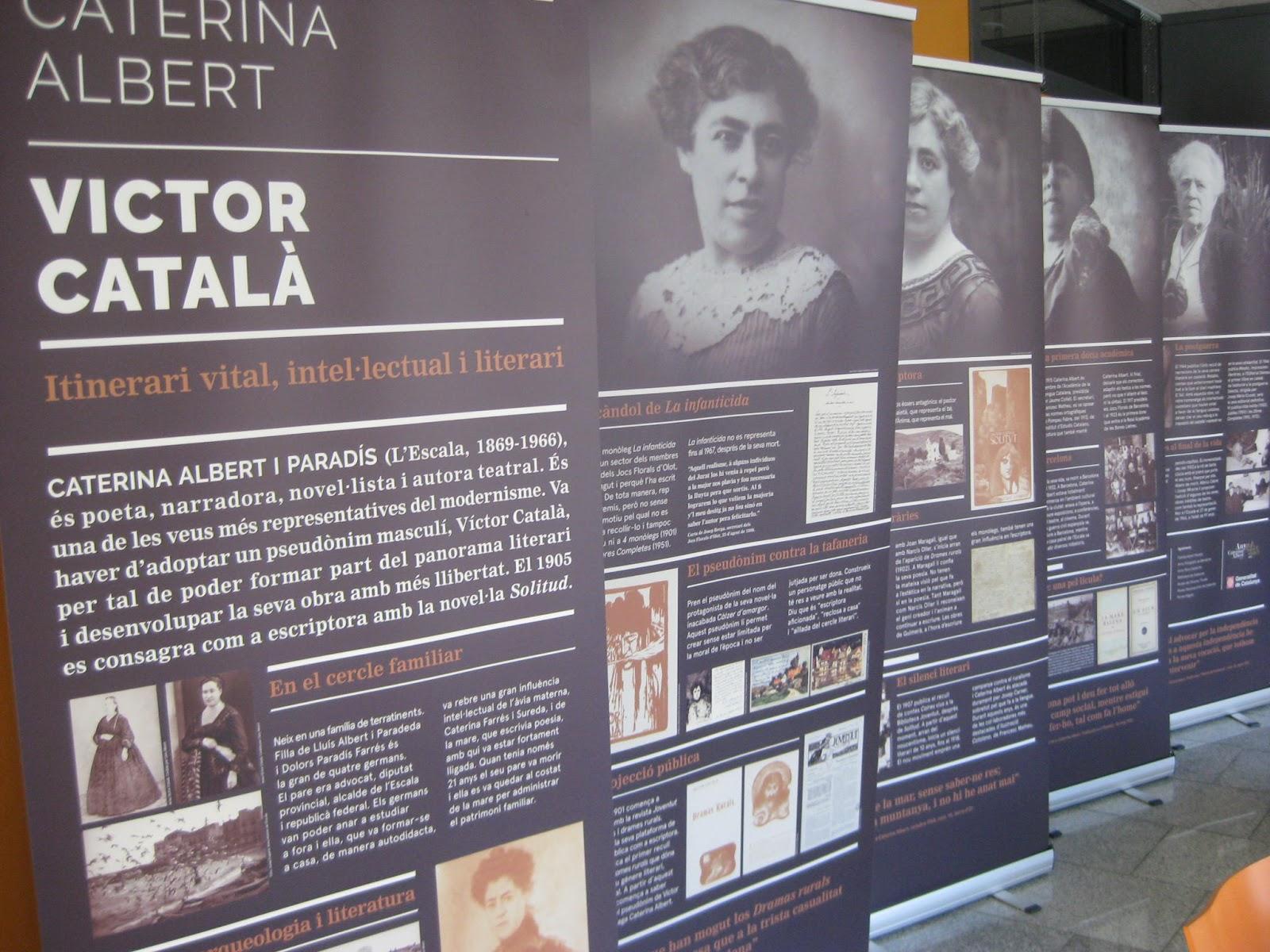 """4f2f9e52 Del 9 al 22 de setembre Exposició: """"Caterina Albert/Víctor Català"""".  Exposició creada per la Institució de les Lletres Catalanes."""