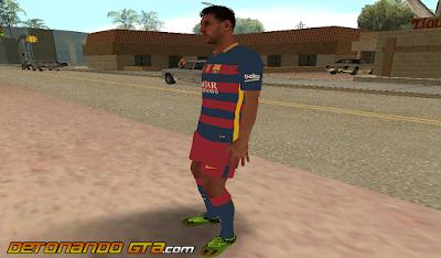 GTA SA - Skin Messi do Barcelona 2016