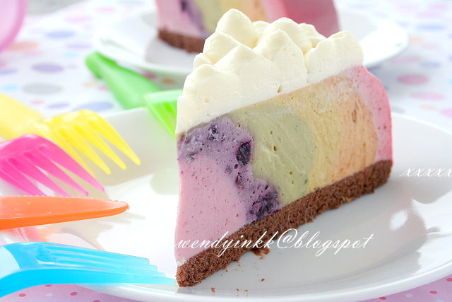 ... for 2.... or more: Rainbow Fruit Cheesecake - No Bake Cheesecakes #2