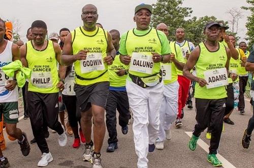 Obaseki, Shaibu, Oshiomhole Others Complete 10km Okpekpe Race