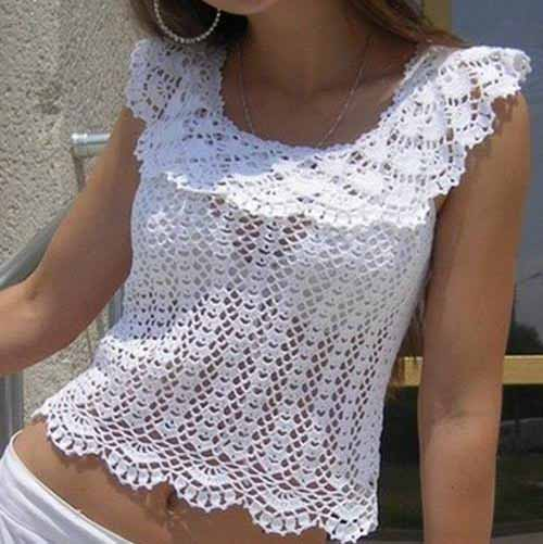Free Crochet Pattern Blouse Crochet Yarn Online