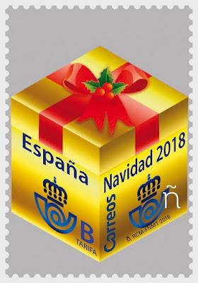 Navidad 2018 - España  - Decoración navideña - Paquete de Regalo