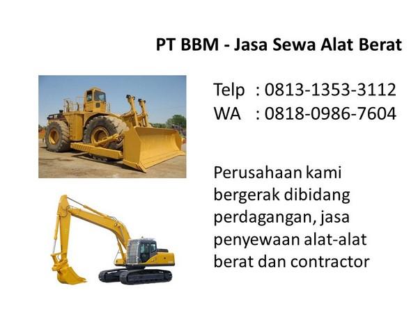 rental excavator capit di bandung dan jakarta