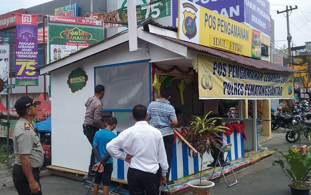 Hari Raya Idul Fitri di 9 Kabupaten dan Kota Sumut , PT. STTC Bangun 41 Pos Pengamanan