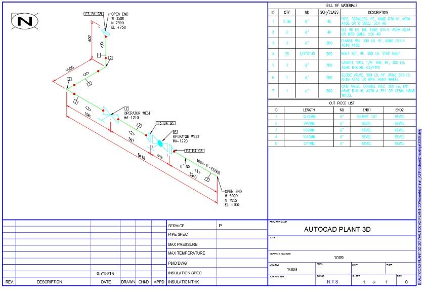 Generación de Isométricos en AutoCAD Plant 3D - cadBIM3D