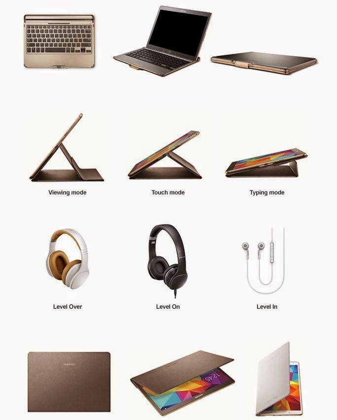 Aksesoris Resmi untuk Galaxy Tab S