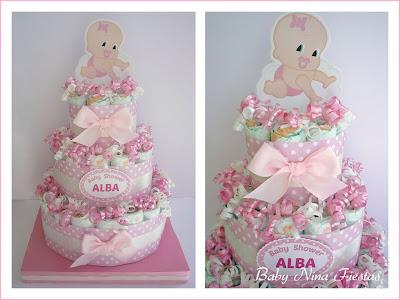 tarta pañales personalizada