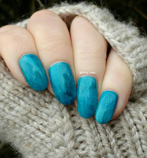Turquoise with sponging