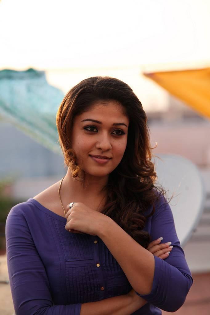 Nayanthara Stills In Blue Dress