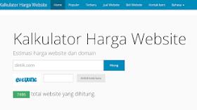 Cek Estimasi Harga Website di ceksite.com