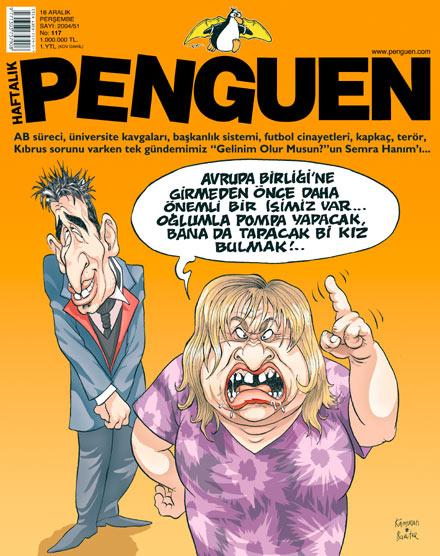Penguen Dergisi - 16 Aralık 2004 Kapak Karikatürü