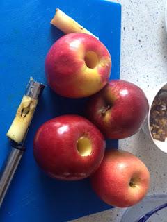 Vaciar manzanas