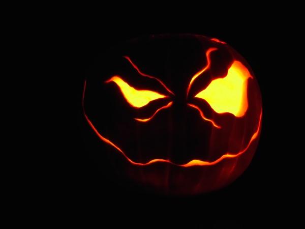 Spooky Halloween pumpkin design