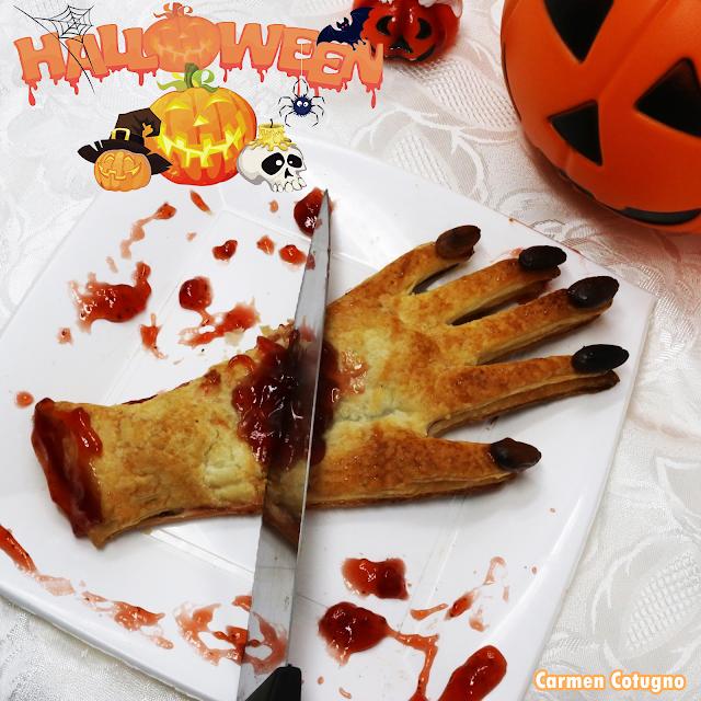 ricetta facile halloween mano di strega