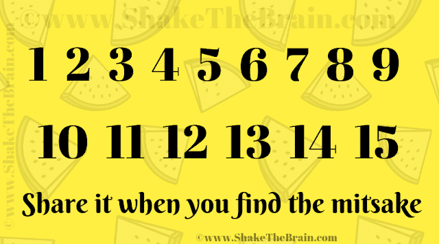 1 2 3 4 5 6 7 8 9 10 Share it when you find the mitsake