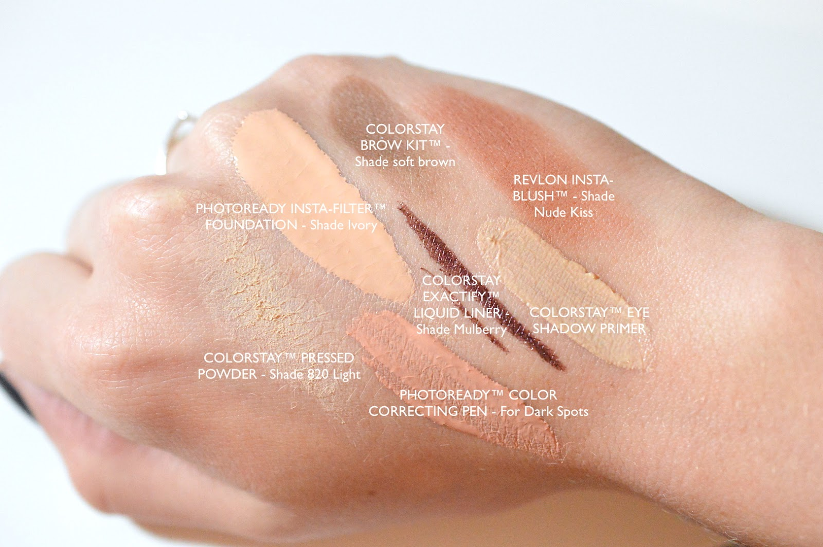 Revlon Product Swatches