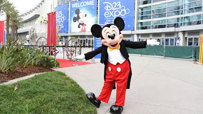 Mickey Mouse outside the Anaheim Convention Center for 2017 D23 Expo