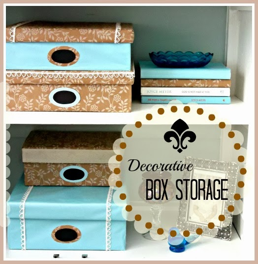 DIY Decorative Box Storage - image of decorative boxes and title icon