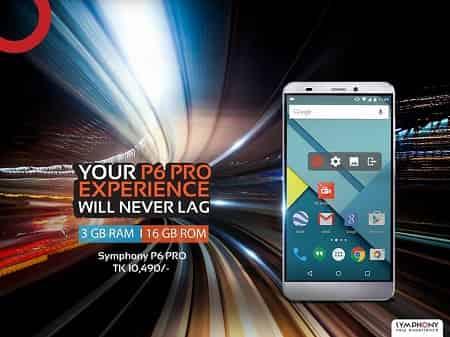 Symphony Xplorer P6 PRO 3 GB RAM Smartphone
