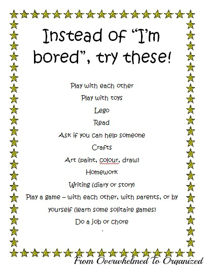 3 Ways To Stop Your Kids From Saying I M Bored From Overwhelmed