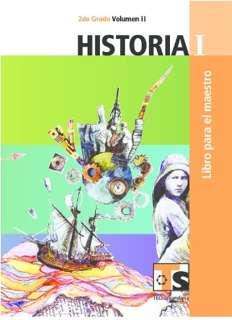 Libro de TelesecundariaHistoriaISegundo gradoVolumen IILibro para el Maestro2016-2017