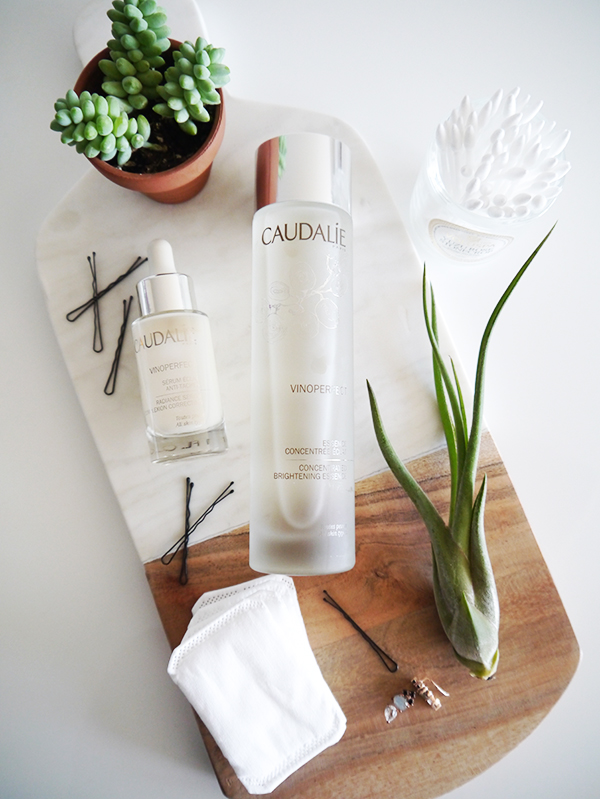 Caudalie Vinoperfect Concentrated Brightening Essence and Caudalie Vinoperfect Complexion Correcting Radiance Serum