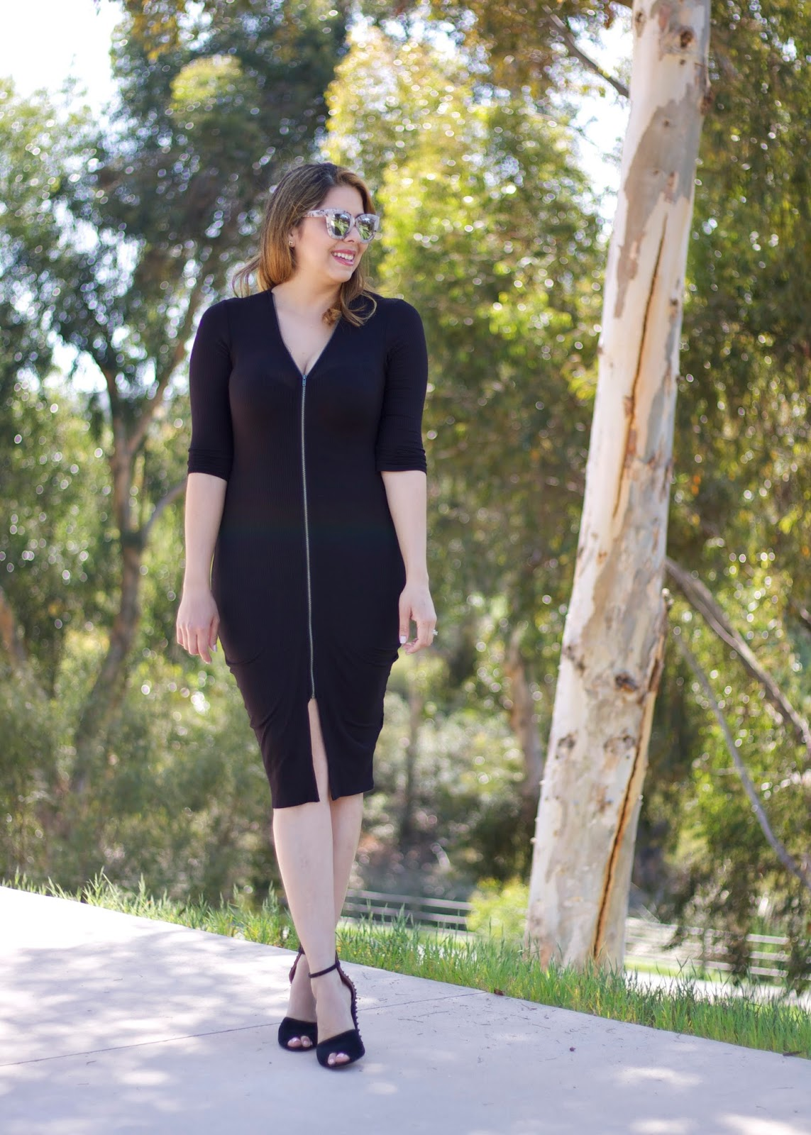 Black Midi Dress, Nicki Minaj collection dress, san diego fashion blogger, san diego style blogger