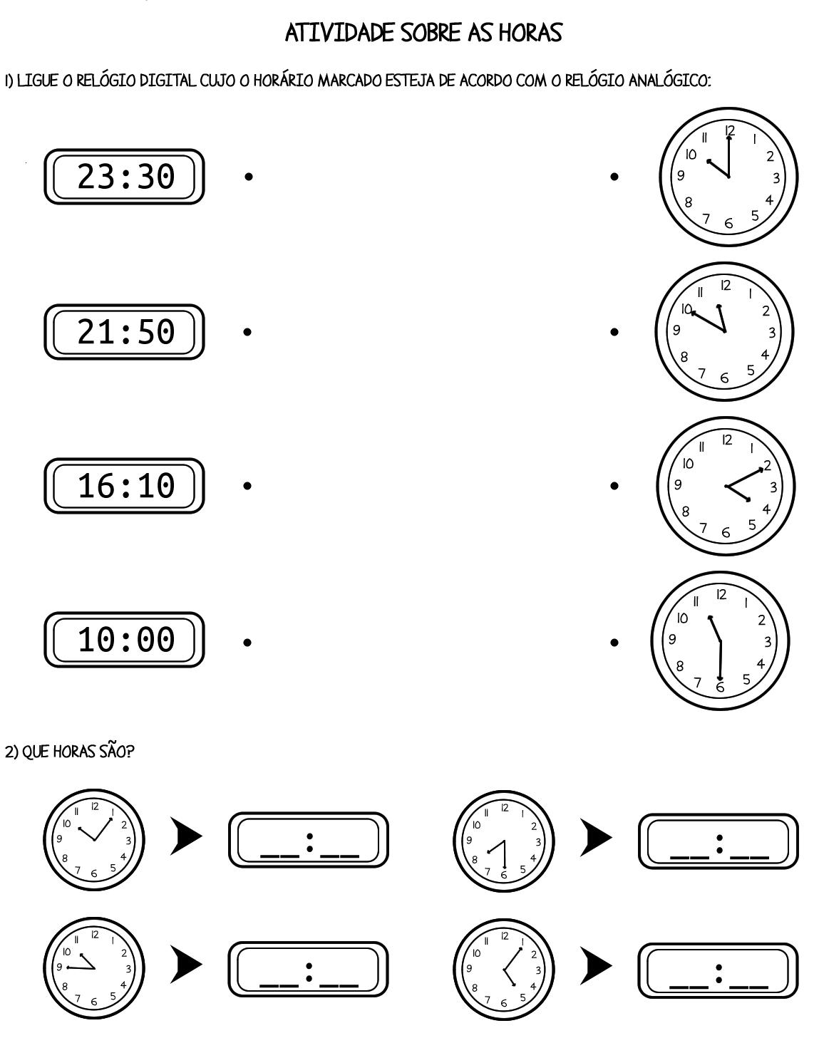 Pedagógiccos Atividades Sobre Medida De Tempo