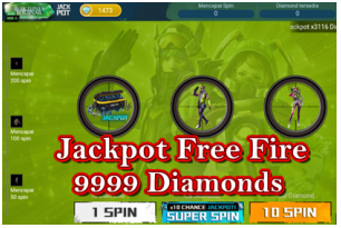 Free fire jackpot 9999 Berhadiah diamond dari Event Jackpot Free Fire