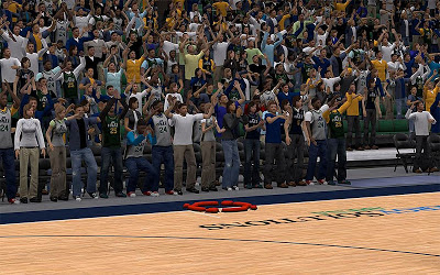 NBA 2K13 Utah Jazz Arena Fans Fix
