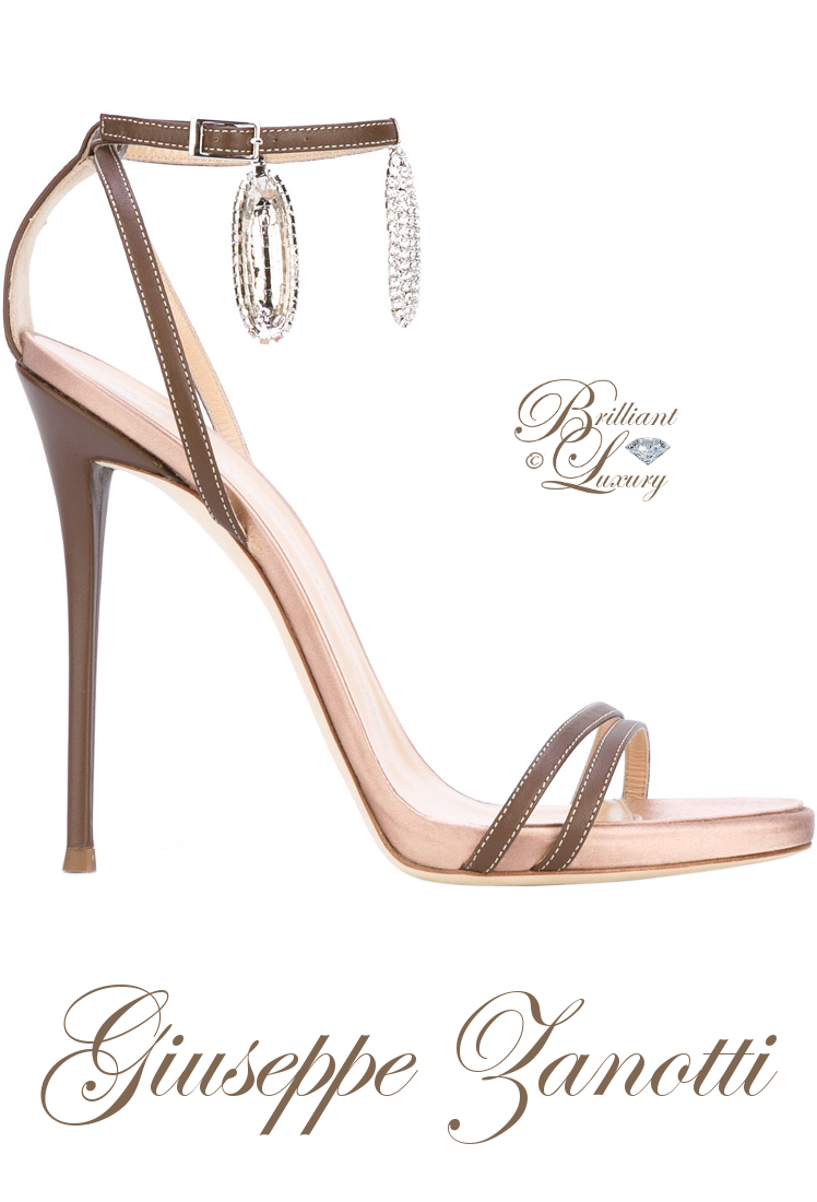 Brilliant Luxury ♦ Giuseppe Zanotti Ankle Charm Sandals