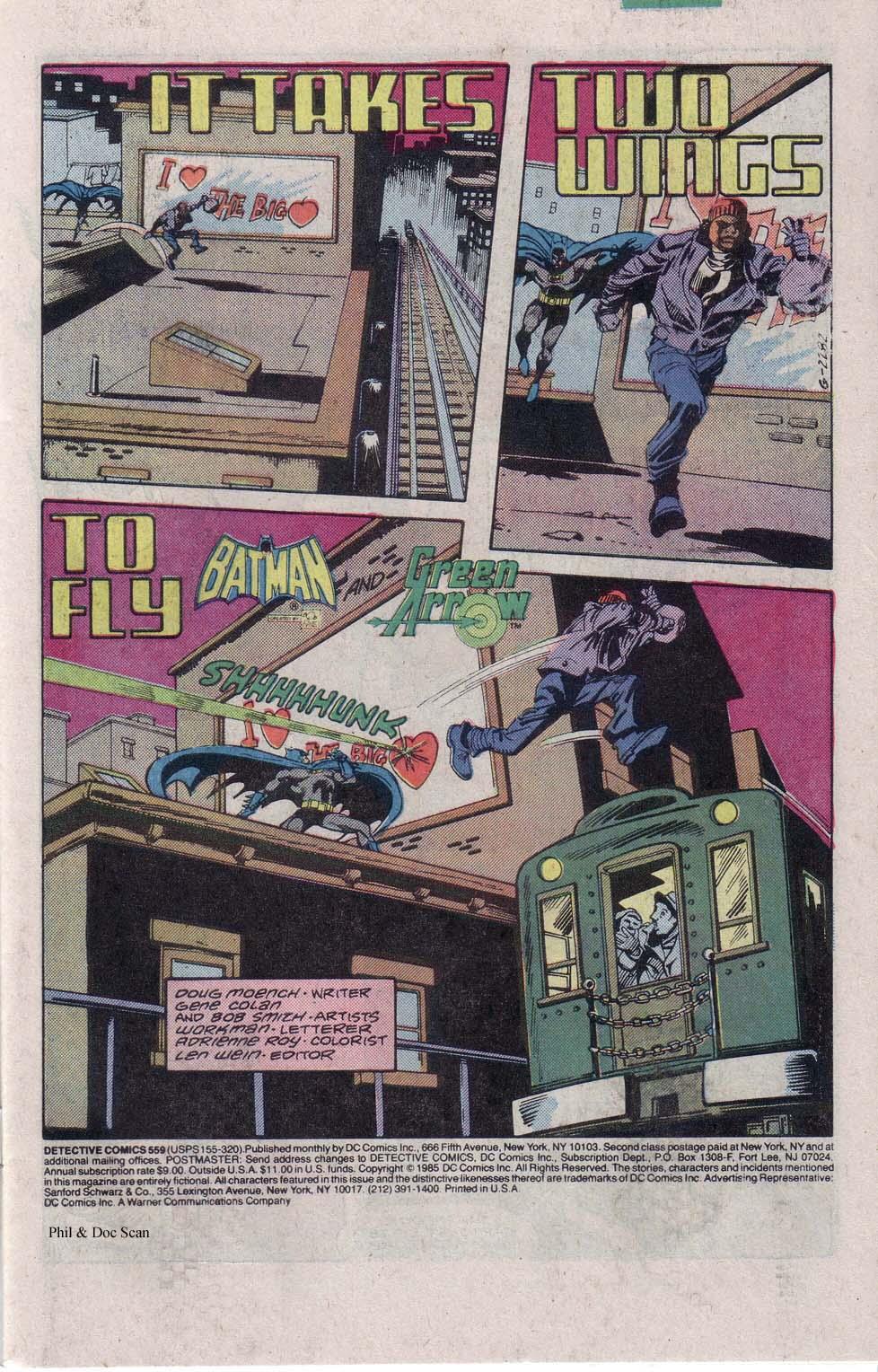 Detective Comics (1937) 559 Page 1