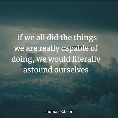 Thomas Edison inspirational quote