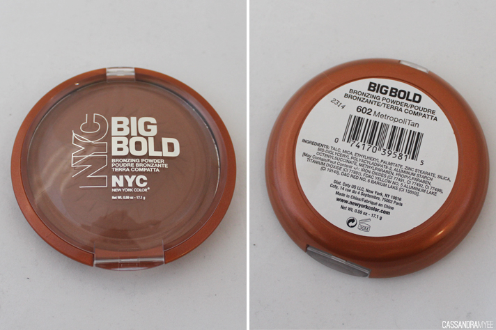 NYC // Big Bold Bronzing Powder in 602 MetropoliTan - CassandraMyee