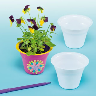 Girl Scout Founders Day craft-paint or color these flower pots and plant with daisy seeds.
