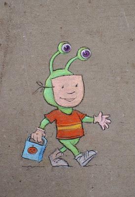 Caricatura en la calle