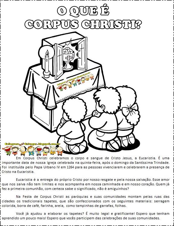 Catequese Com Criancas Corpus Christi Para Colorir