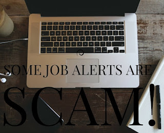 Some job alerts are scam!