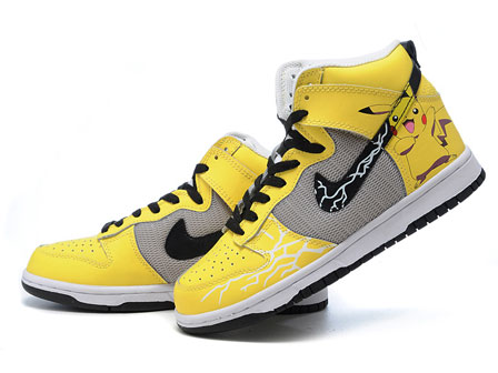 the best attitude 5ce6c ee7d4 Pokemon Nikes Pikachu Shoes Video Game Sneaker Yellow For ...