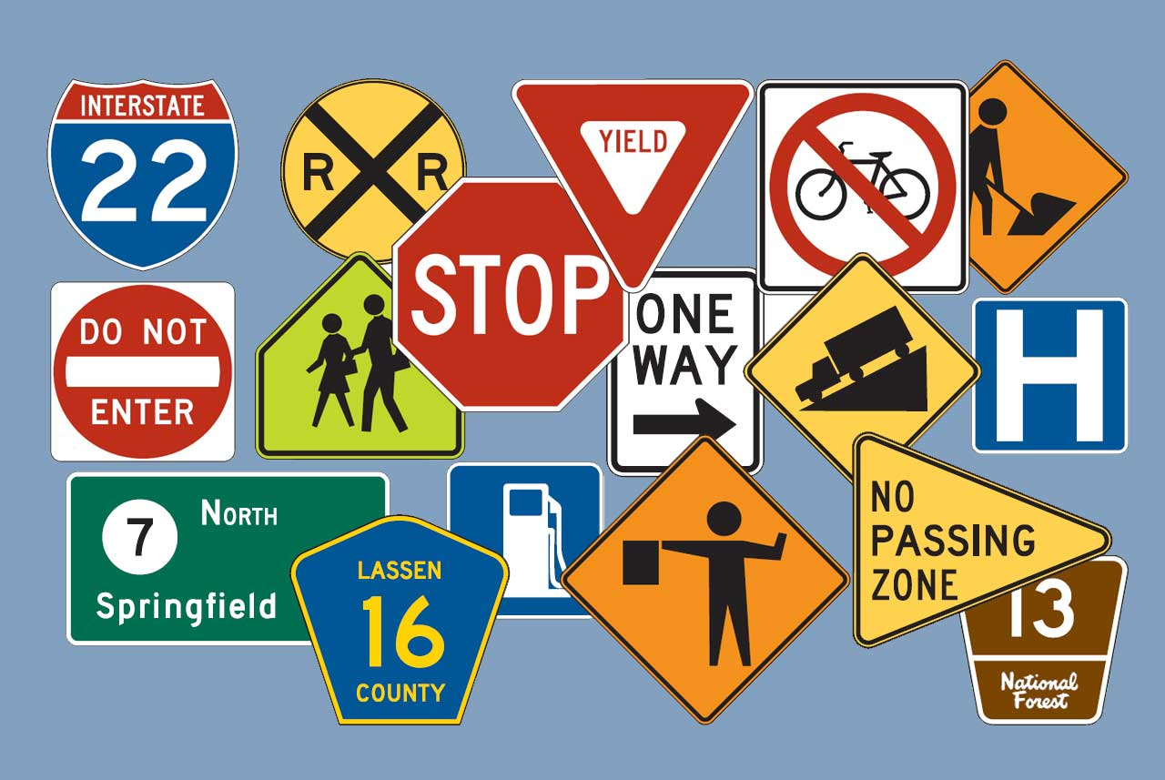 Traffic signs signage