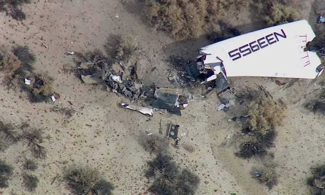 Virgin Galactic SpaceShipTwo Crashed Scene