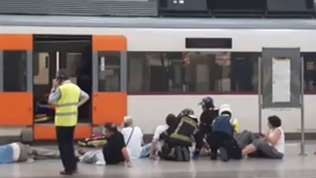 Breaking! 48 injured in Barcelona train crash